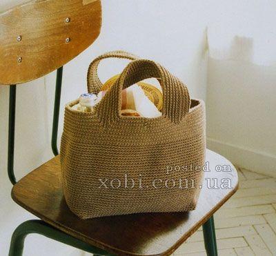 сумка для продуктов вязаная крючком