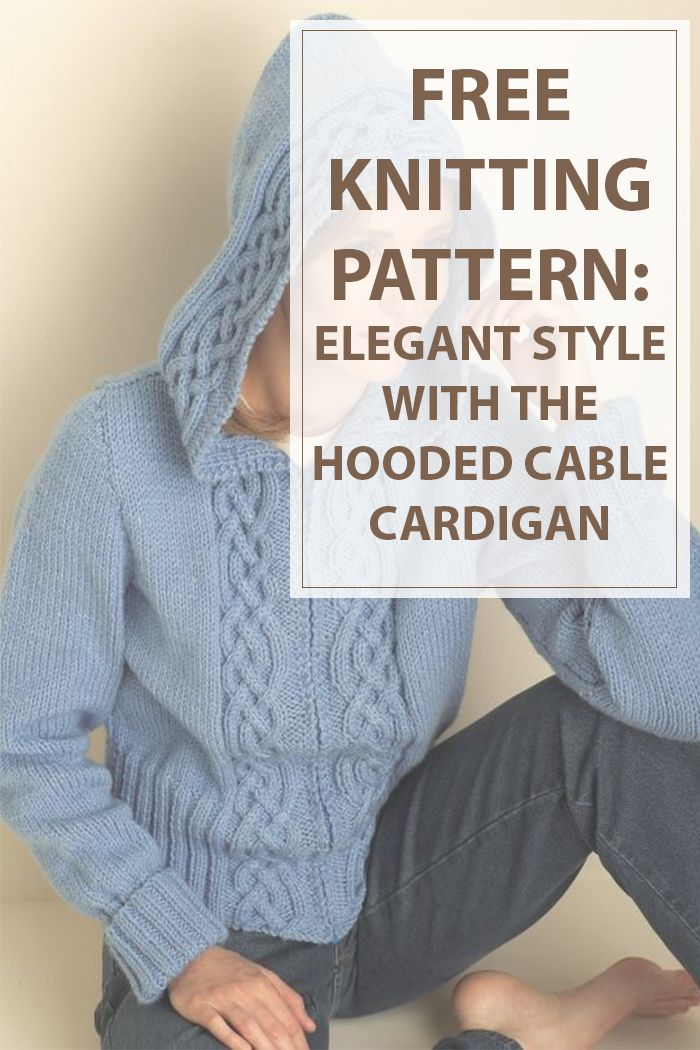 This cardigan can keep you cozy with its giant, floppy hood. The cable that runs consistently throughout this awesome sweater encompasses a Celticstyle.  This pattern is for some knitters of intermediate ability level, it's simply the project for starting knitters#knitting #knit #hobbies www.housewiveshobbies.com