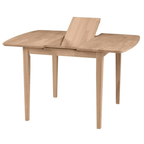 square dining table with leaf extension small butterfly leaf extension dining table unfinished 9377