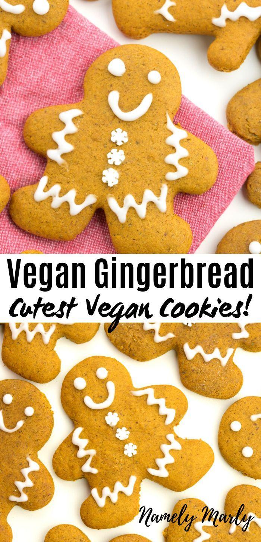 The Best Vegan Gingerbread Cookies Recipe Vegan Gingerbread Vegan Gingerbread Cookies Ginger Bread Cookies Recipe