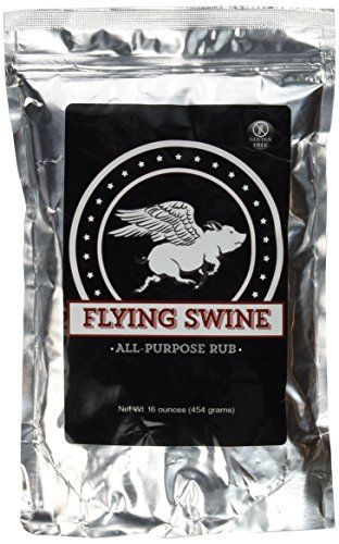 Flying Swine All-Purpose BBQ Rub - For use on baby back ribs, pulled pork, smoked brisket, pork chops, chicken, salmon, vegetables and anything you put on the smoker or barbecue! -- Continue to the product at the image link.