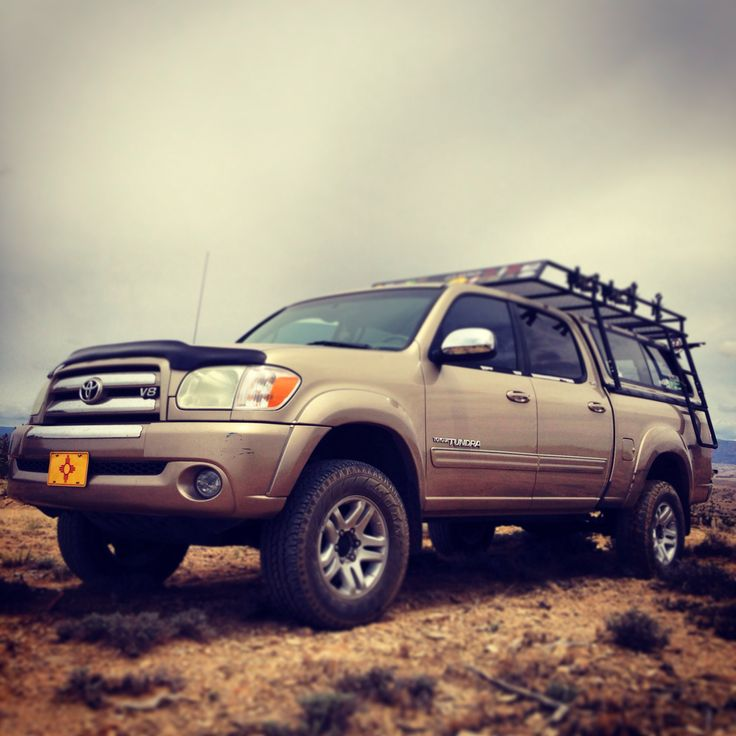My 05 Tundra With The Custom Roof Rack My Own Little Adventure Mobile Toyota Tundra Tundra Toyota Trucks