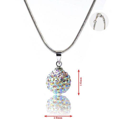 Ketten mittellang - Tolle Shamballa Kristallkugel gross Halskette 45cm - ein Designerstück von MyBeads-Luzimbo bei DaWanda
