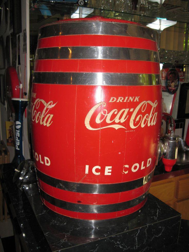 CocaCola Dispenser Barrel  Collectors Weekly  Coca