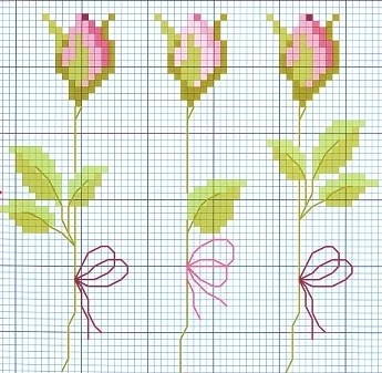 cross stitch roses https://www.etsy.com/shop/InstantCrossStitch