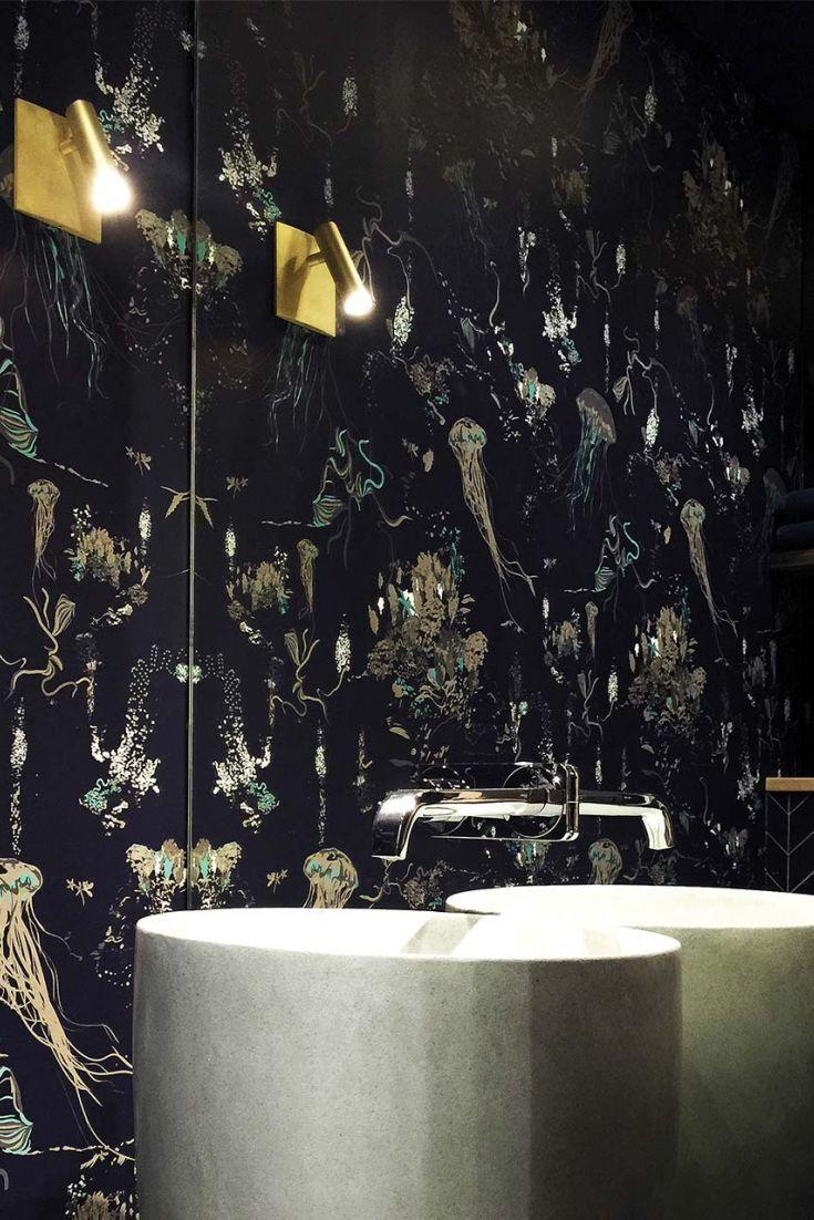 33 best bathroom wallpaper ideas images on pinterest wallpaper jelyfish wallpaper design by 17 patterns