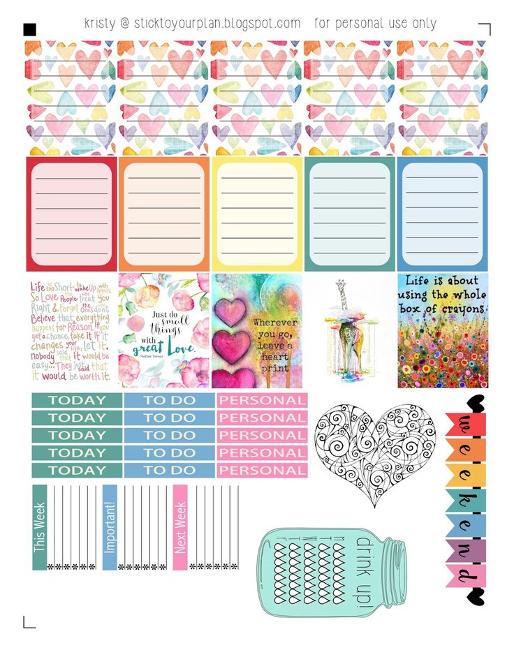 stick to your plan: Love a Rainbow - Free Printable PDF and Silhouette files
