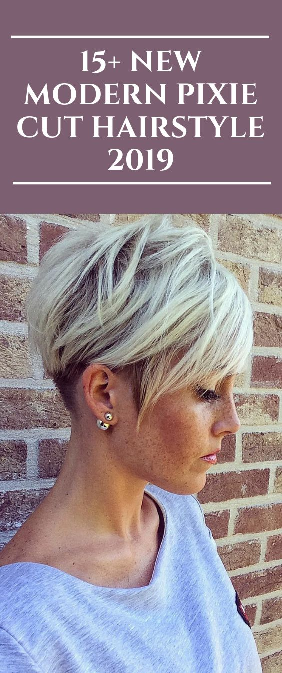 15+ New Modern Pixie Cut Hairstyle 2019  #pixiehairstyles #pixiecut #shorthair #…