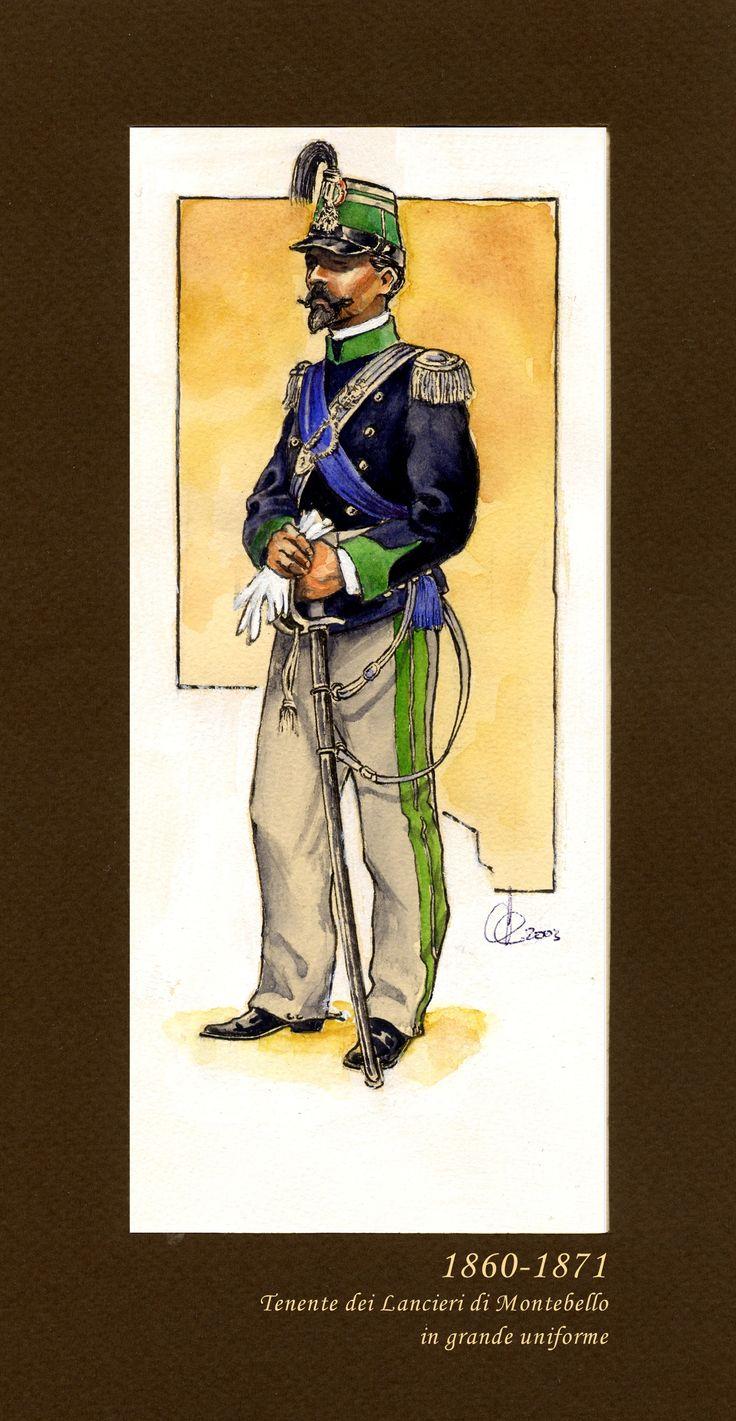Tenente dei Lancieri di Montebello 1860-1871