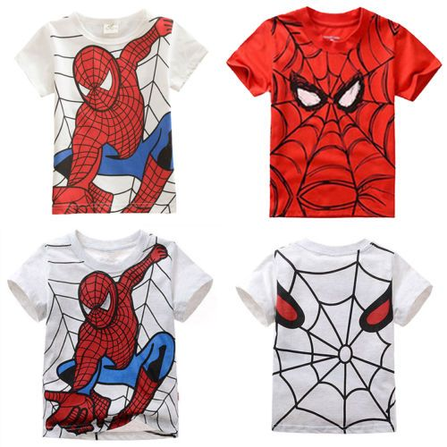 New Baby Kids Boys Clothes Short Sleeve Spiderman Costume Tee Tops Shirt T-Shirt in Clothing, Shoes & Accessories, Kids' Clothing, Shoes & Accs, Boys' Clothing (Sizes 4 & Up)   eBay