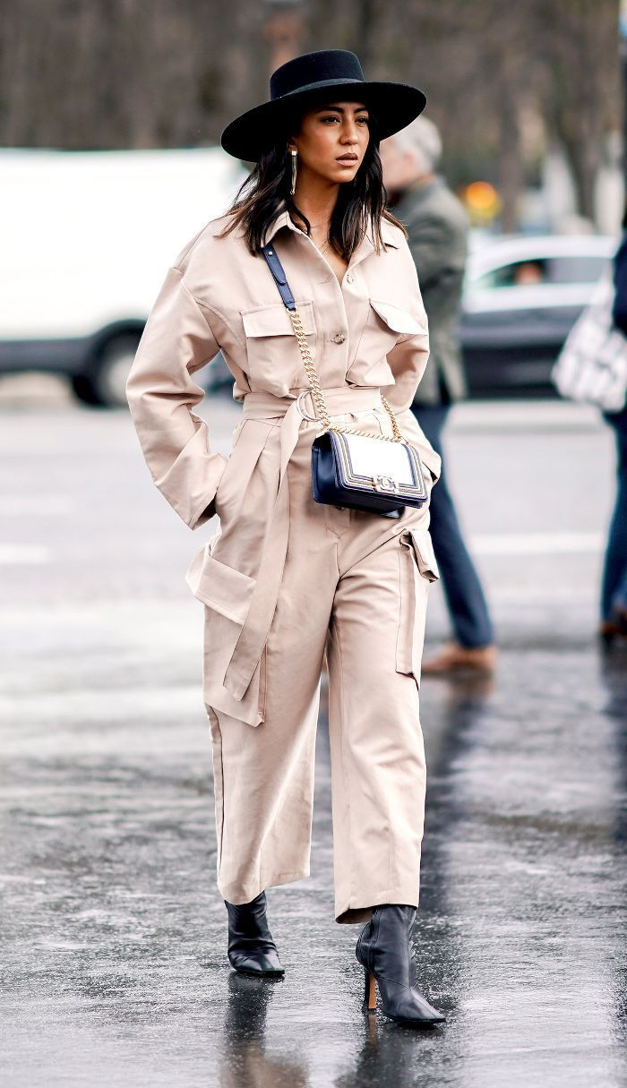 Incredibly Utility Jumpsuit Trend Street Style – Chanel Bag