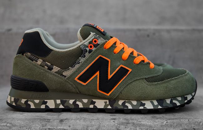 new balance 574 leather orange