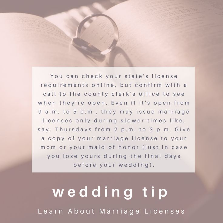 Weddingwednesday Tip Learn About Marriage Licenses Find Other Wedding Tips And Tricks At