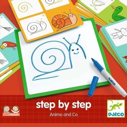 DJECO tekenkaarten dieren