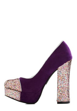 Gold Coast Heel in Violet, #ModCloth I want to get this! Only $15.99 but I will never have anything to wear it to :(