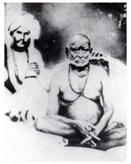 Original photo: Swami Samarth with Cholappa Maharaj (1860)