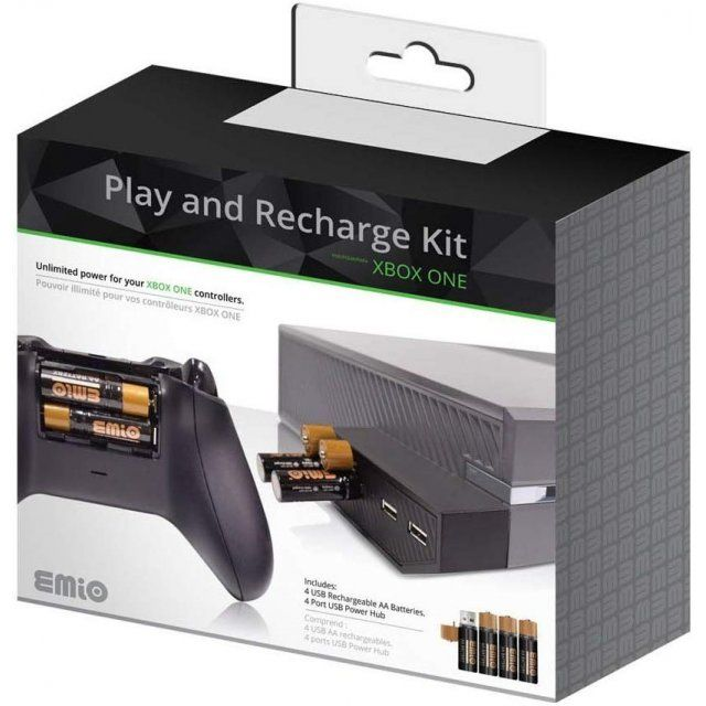 Play And Recharge Kit Black Recharge Kit Usb Rechargeable