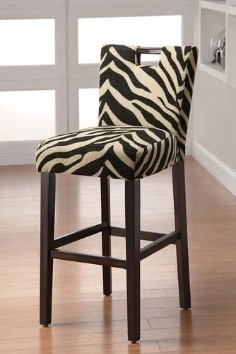 Coaster 102588 Transitional Bar Stool Zebra Cappuccino