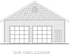 Chehalis 2 Car Garage Plans