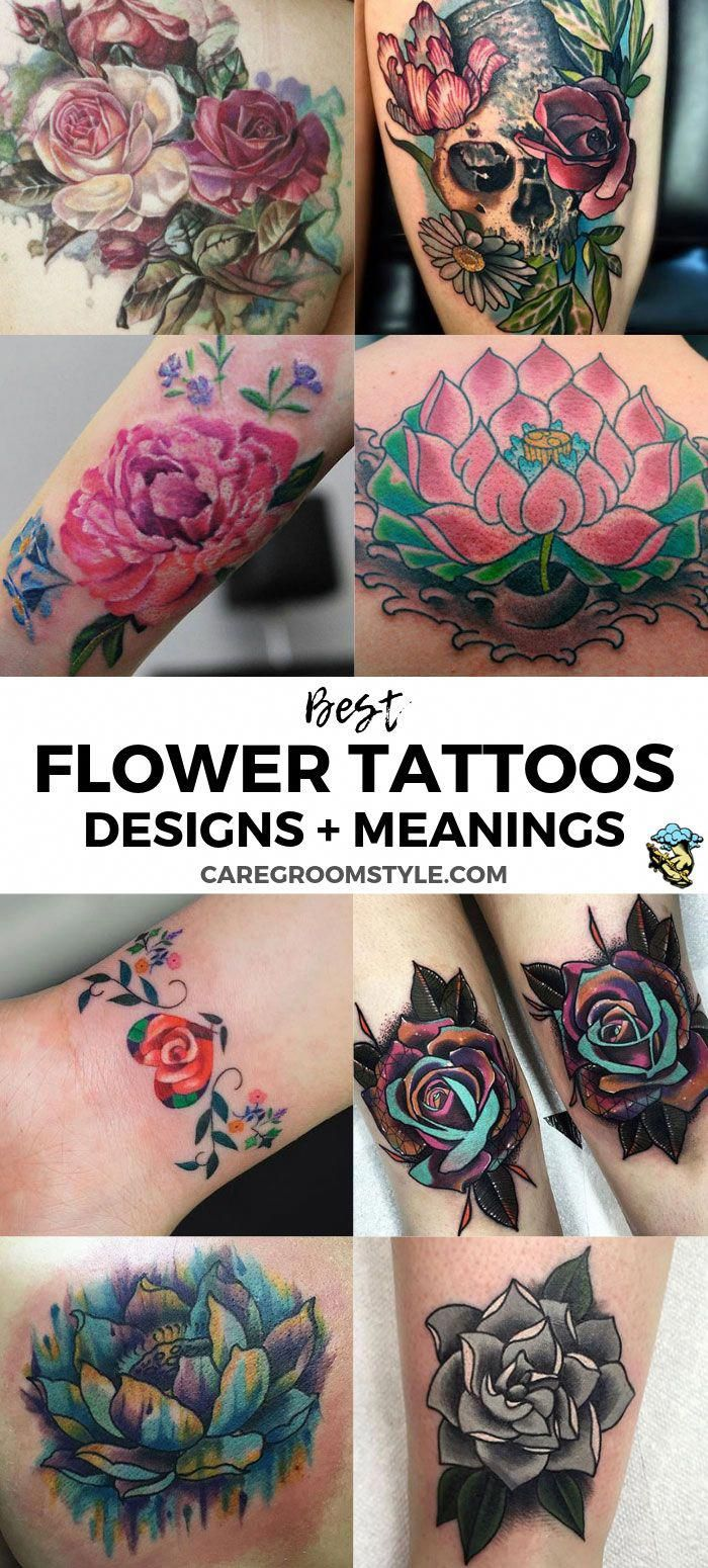 Best Flower Tattoos Popular Flower Tattoo Designs And Meanings Cute Beautiful Flower Tattoo Design Flower Tattoos Flower Tattoo Meanings Carnation Tattoo