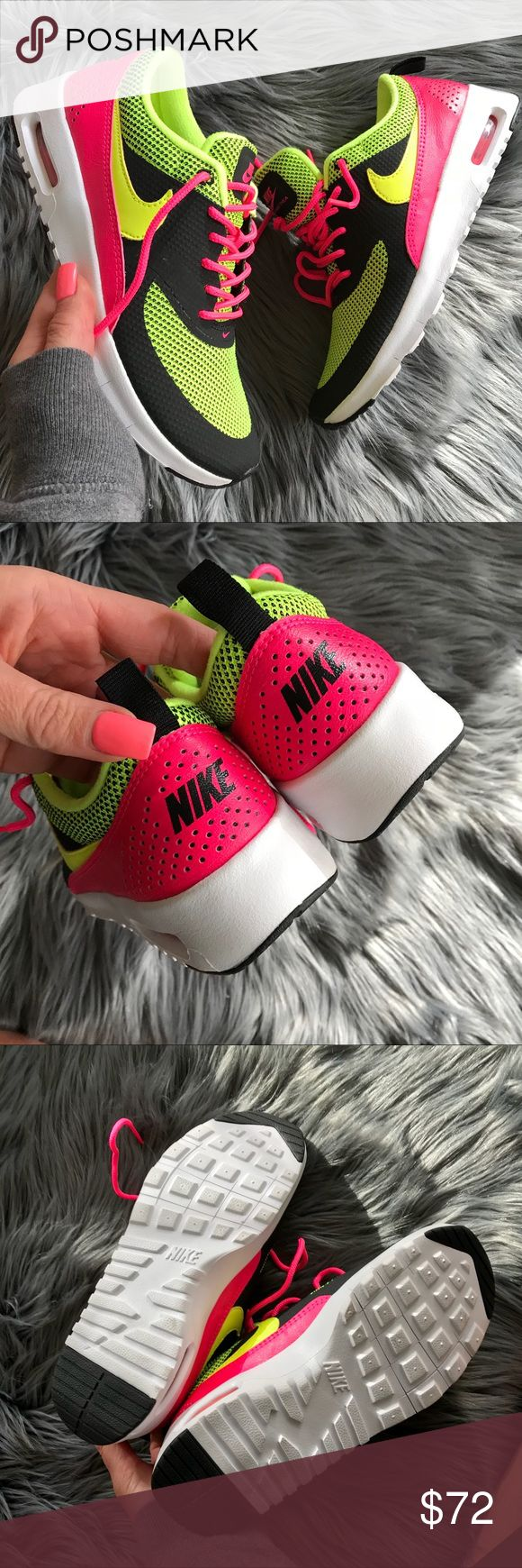 NEW 💥 NIKE KIDS AIR MAX THEA | NEON BRAND NEW, NIKE FREE! Cute, comfy & super bright NEON NIKES! ✨ Original NIKE box no lid. ✨ THE MOST AWESOME AIR MAX OF THEM ALL! The NIKE AIR MAX THEA.   Ships same or next day from my smoke free home.   PRICED FIRM, offers will be considered through the offer button only. Bundle to save. ✨   100% authentic & direct from NIKE Nike Shoes Sneakers