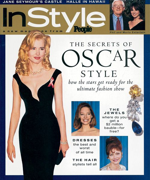 InStyle Magazine Covers: 1995 - April, Geena Davis, Jodie Foster, and Susan Sarandon from #InStyle