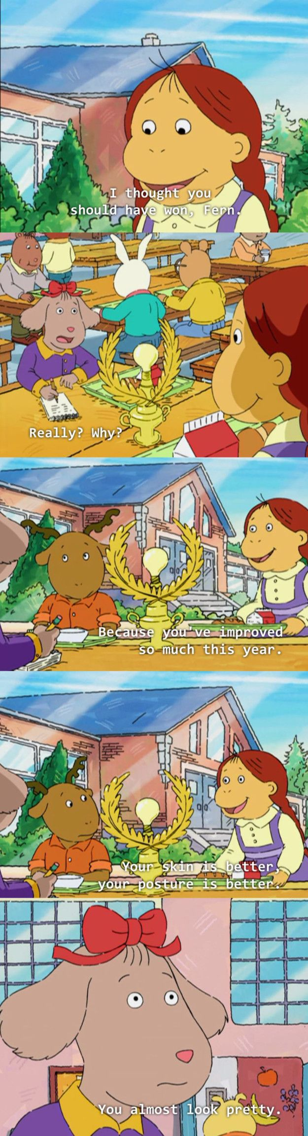 """When Muffy just couldn't let Fern feel too good about herself:   19 Times """"Arthur"""" Was The Most Savage Show That Ever Existed"""