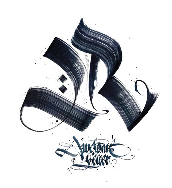 AWESOMELETTERONTHETSHIRT #1 by Awesome letter on the t-shirt, via Behance