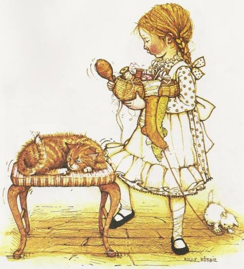 Holly Hobbie is who I was named after, I was born in 1980. My Grandmother and mother collected all the figurines, plates, dolls, you name it! My Grandmother has passed on but everytime I see a Holly Hobbie item I think of her.