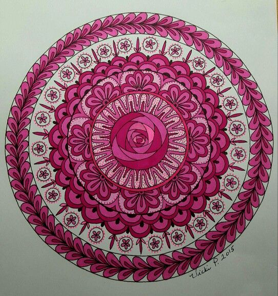 For Cancer Awareness. Pattern by Julia Snegireva, colored by Vicki Patterson.
