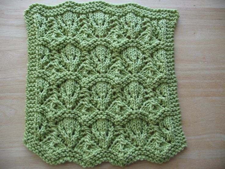 Lace Dishcloth Knitting Pattern : Ravelry: Tiernas Thistle Lace dishcloth #2 knitting patterns / pleteni...