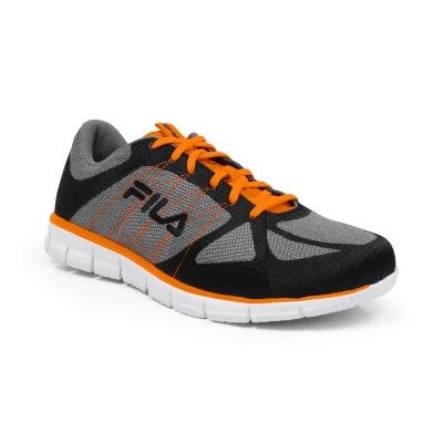 Tênis Fila Men's Speedweave Run Grey Black Orange #Tenis #Fila