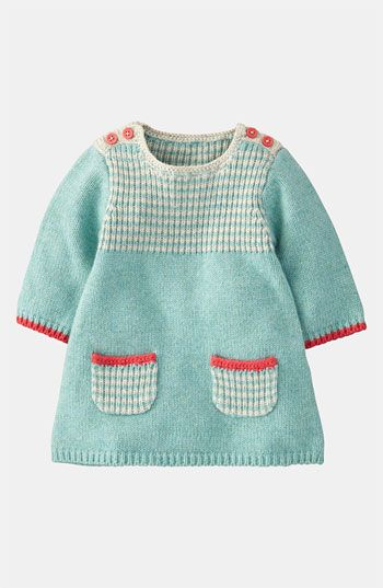 This will look so great with Lyla's blue eyes . Mini Boden 'Stripy' Knit Dress (Infant) | Nordstrom