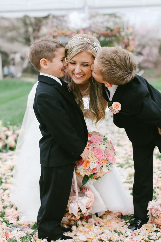More adorable kiddie love for our beautiful bride at The Knot Dream Wedding