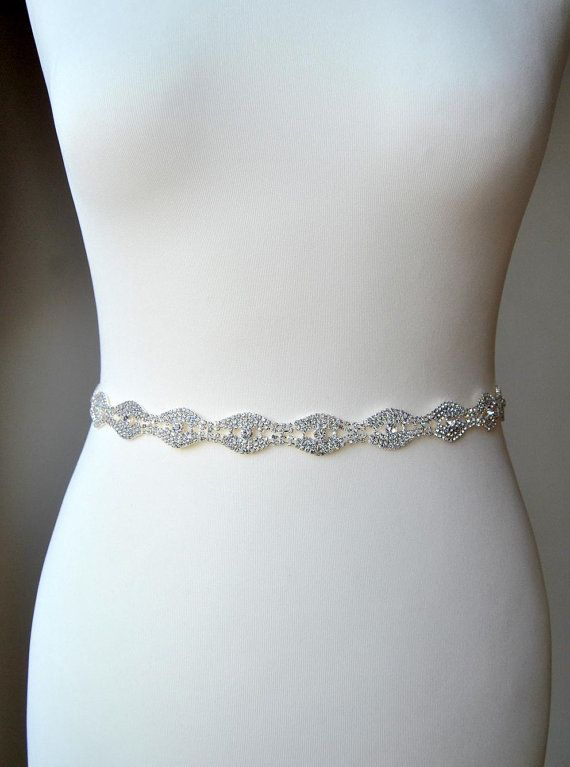 Dress Belt, Bridal Belt, Bridesmaid Belt, Bridesmaid Belt, Crystal Rhinestone, Wedding Sash Ready to ship Luxury high sparkle Clear Rhinestone Crystal Silver sash. Beautiful bridal , party or any special occasion rhinestone sash. Glamour and stylish. Unique and romantic. Perfect for your outdoor, rustic, or shabby chic country wedding. Great for a bride or bridesmaid, flower girls. Made of - stunning clear rhinestone crystal silver trim, all high sparkle different size crystal rhinestones…