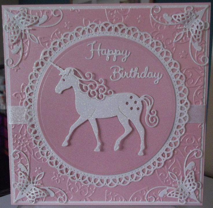 handmade luxury children's fantasy pagan birthday card a white unicorn horse in Crafts, Cardmaking & Scrapbooking, Hand-Made Cards   eBay
