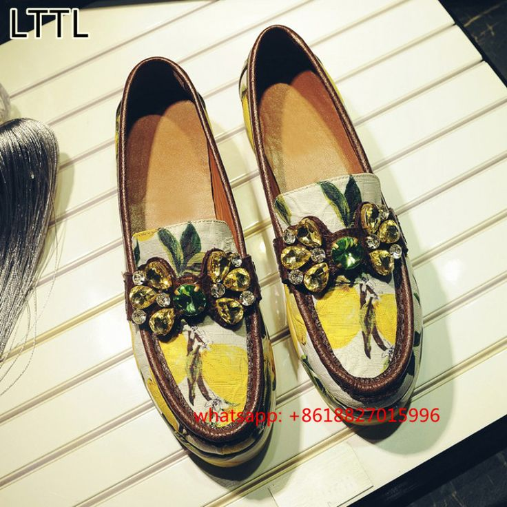 Aliexpress.com : Buy LTTL Fruit Style Luxury Women Loafers Designer Crystal Decor Flat Platform Rihanna Creepers Shoes Woman Casual Flats Espadrilles from Reliable designer espadrilles suppliers on Runway Shoe Store