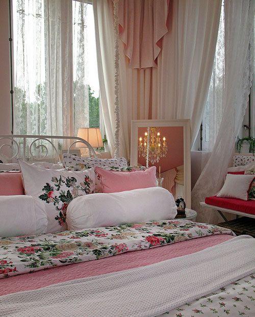 Дизайн интерьера розовой спальни принцессы