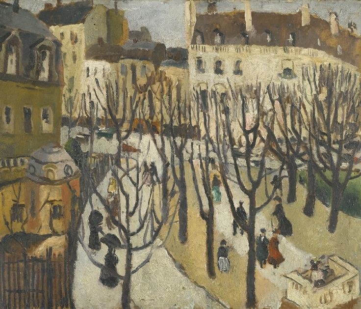 Paris Square, Bare Trees (1925) by Christopher Wood