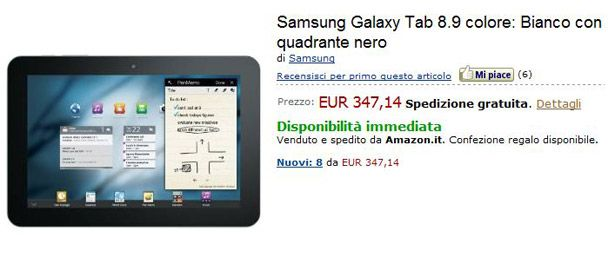 Voglia di tablet? Samsung Galaxy Tab 10.1 e 8.9 in offerta su Amazon