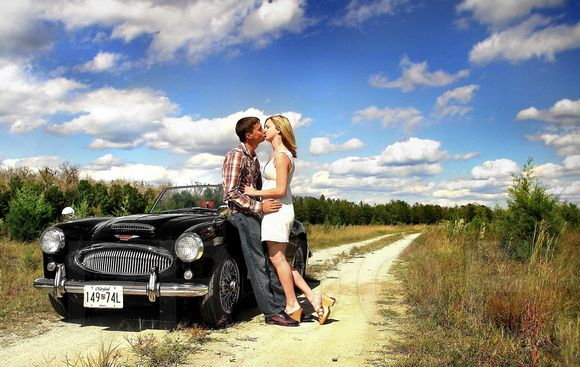 engagement photos with classic car - Google Search