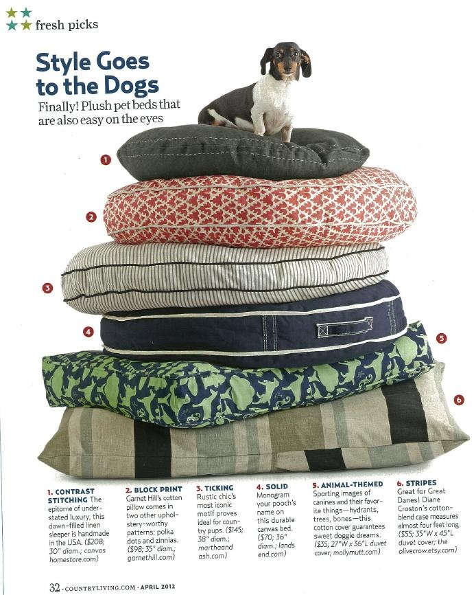 Garnet Hill Dog Bed In The April Issue Of Country Living Magazine Someday