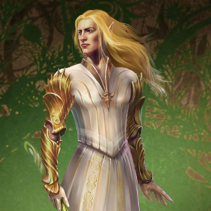 Glorfindel original concept for the project T H E S U N S E T K I N G D O M