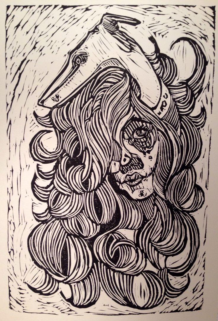 Linocut prints by Laura Woermke