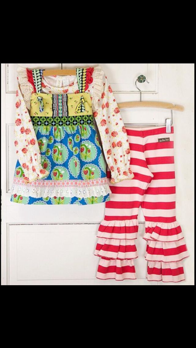 Matilda Jane Love Bug Knot top and Red Rover Bennys, one of our newest and very excited!!