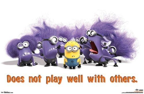 MINIONS The purple ones do not play well with others.