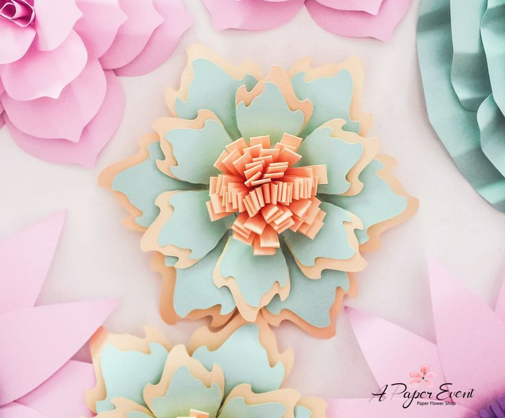 Telón de fondo de flores papel flores de papel por APaperEvent