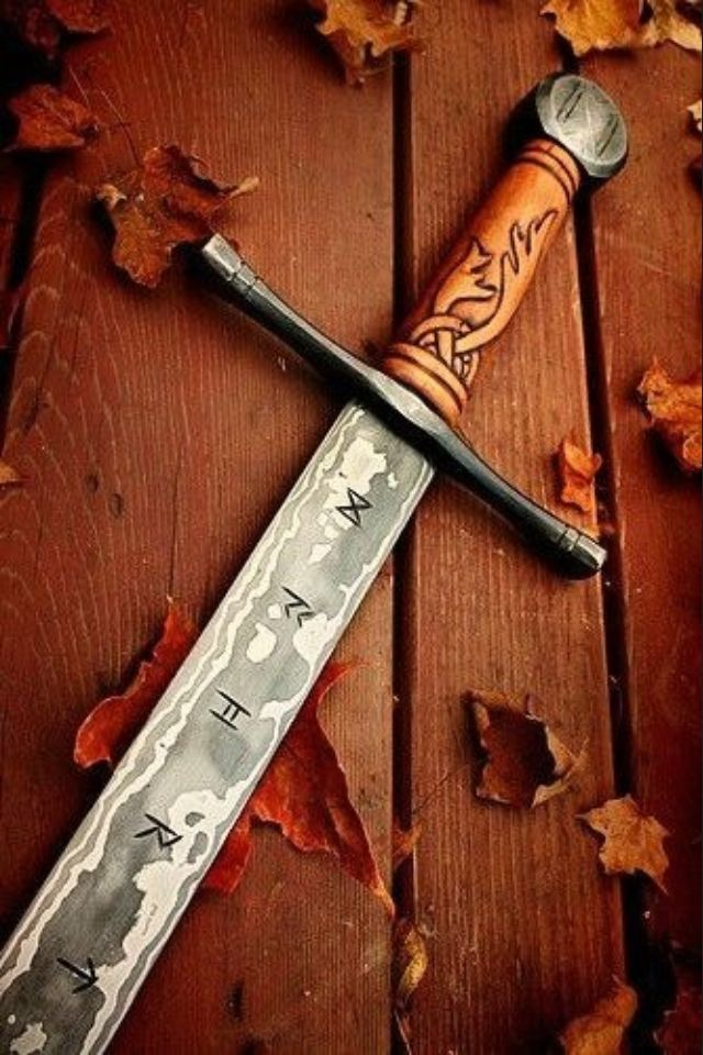 Vikings Sword  Reminds me of Geralt's silver sword from Witcher …