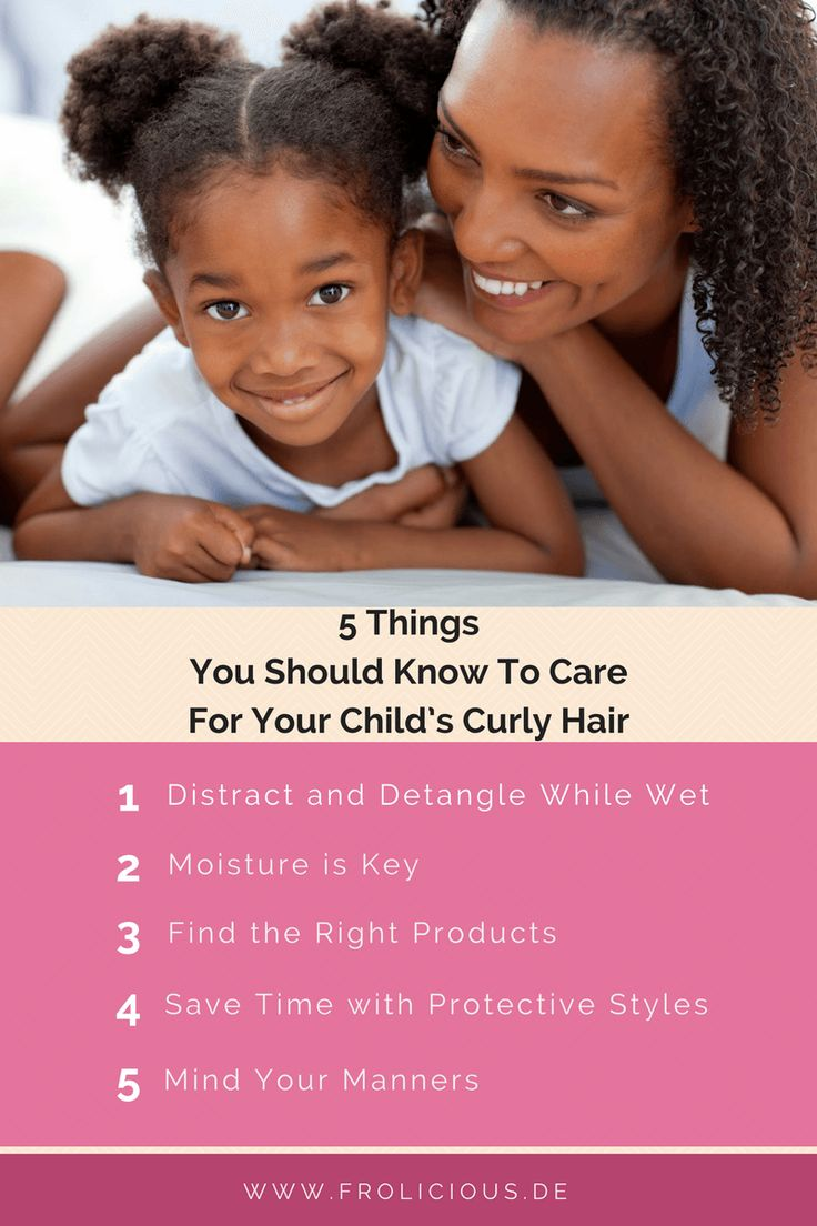 To care for your child's hair can be a tricky task. Here are 5 things you should know to care for your child's curly hair for a shiny and healthy look.