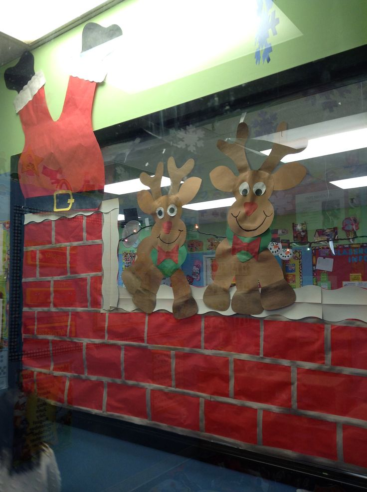 Santa stuck on chimney Rudolph reindeer   My Classroom Projects and D ...